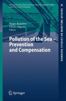 Cover image for Pollution of the Sea - Prevention and Compensation