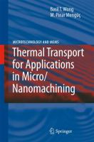 Cover image for Thermal transport for applications in micro/nanomachining