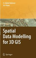 Cover image for Spatial data modelling for 3D GIS