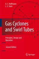 Cover image for Gas cyclones and swirl tubes : principles, design, and operation