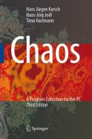 Cover image for Chaos a program collection for the PC