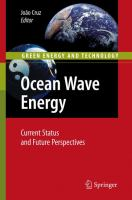 Cover image for Ocean wave energy : current status and future perspectives
