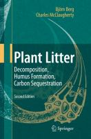 Cover image for Plant litter : decomposition, humus formation, carbon sequestration