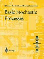 Cover image for Basic stochastic processes