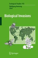 Cover image for Biological invasions