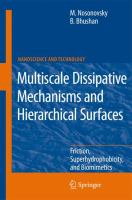 Cover image for Multiscale dissipative mechanisms and hierarchical surfaces : friction, superhydrophobicity, and biomimetics