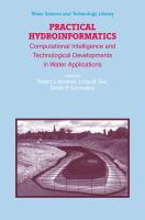 Cover image for Practical hydroinformatics : computational intelligence and technological developments in water applications