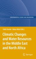 Cover image for Climatic changes and water resources in the Middle East and North Africa