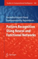 Cover image for Pattern recognition using neural and functional networks
