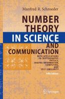 Cover image for Number theory in science and communication : with applications in cryptography, physics, digital information, computing, and self-similarity