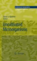 Cover image for Uncultivated microorganisms