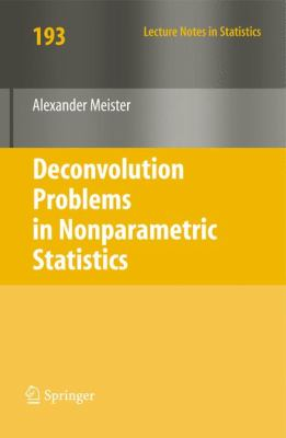 Cover image for Deconvolution problems in nonparametric statistics /cAlexander Meister