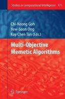 Cover image for Multi-objective memetic algorithms