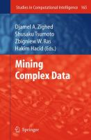 Cover image for Mining complex data