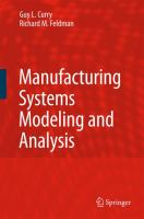 Cover image for Manufacturing systems modeling and analysis