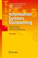 Cover image for Information systems outsourcing : enduring themes, global challenges and process opportunities