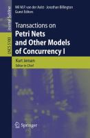 Cover image for Transactions on petri nets and other models of concurrency I