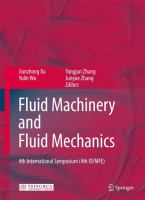 Cover image for Fluid machinery and fluid mechanics : 4th international symposium (4th ISFMFE)