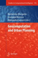 Cover image for Geocomputation and urban planning
