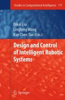 Cover image for Design and control of intelligent robotic systems