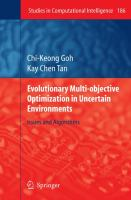 Cover image for Evolutionary multi-objective optimization in uncertain environments : issues and algorithms