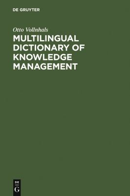 Cover image for Multilingual dictionary of knowledge management: English-German-French-Spanish-Italian