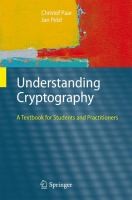 Cover image for Understanding cryptography : a textbook for students and practitioners