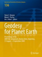 Cover image for Geodesy for planet Earth : proceedings of the 2009 IAG Symposium, Buenos Aires, Argentina, 31 August 31-4 September 2009