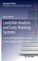 Cover image for Landslide analysis and early warning systems : local and regional case study in the Swabian Alb, Germany