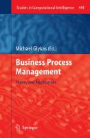 Cover image for Business process management: theory and applications