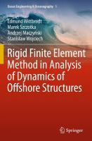 Cover image for Rigid finite element method in analysis of dynamics of offshore structures