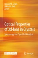 Cover image for Optical properties of 3d-ions in crystals : spectroscopy and crystal field analysis