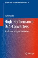 Cover image for High-performance D/A-converters: application to digital transceivers