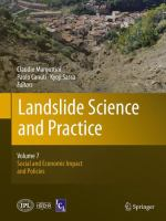 Cover image for Landslide science and practice. Volume 7, Social and economic impact and policies