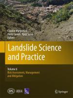 Cover image for Landslide science and practice. Volume 6, Risk assessment, management and mitigation