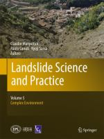 Cover image for Landslide science and practice. Volume 5, Complex environment