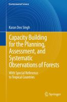 Cover image for Capacity building for the planning, assessment and systematic observations of forests : with special reference to tropical countries