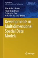 Cover image for Developments in multidimensional spatial data models