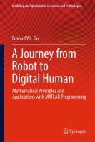Cover image for A journey from robot to digital human : mathematical principles and applications with MATLAB programming