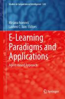 Cover image for E-learning paradigms and applications : agent-based approach