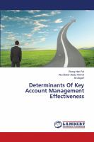 Cover image for Determinants of key account management effectiveness