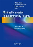 Cover image for Minimally invasive spinal deformity surgery : an evolution of modern techniques