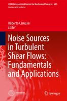 Cover image for Noise sources in turbulent shear flows : fundamentals and applications