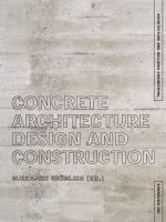 Cover image for Concrete architecture : design and construction