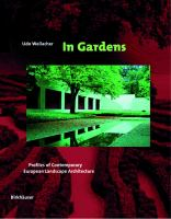 Cover image for In gardens : profiles of comtemporary european landscape architecture
