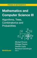Cover image for Mathematics and computer science III : algorithms, trees, combinatorics and probabilities