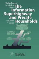 Cover image for The information superhighway and private households : case studies of business impacts