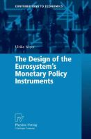 Cover image for The Design of the Eurosystem's Monetary Policy Instruments