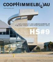 Cover image for Coop himmelb(l)au : central Los Angeles high school no 9 for the visual and performing arts