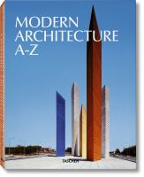 Cover image for Modern architecture A-Z